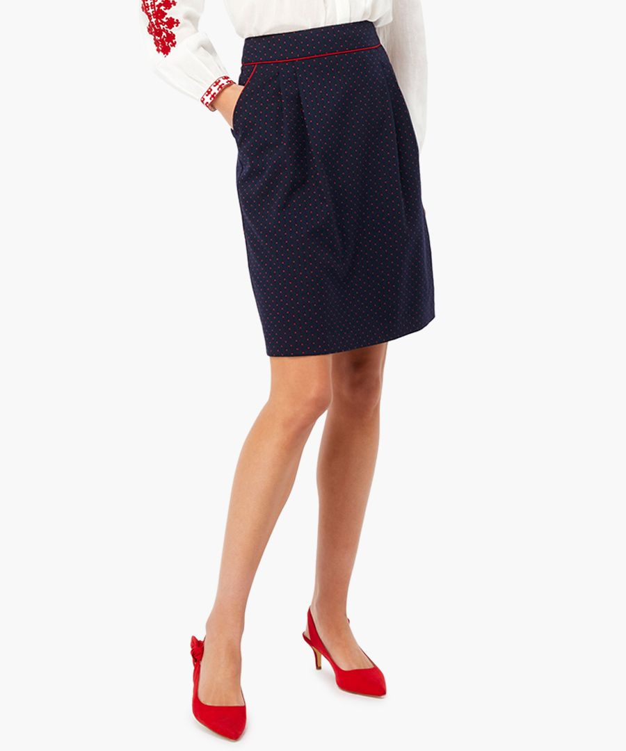 Cecile navy spotted mini skirt