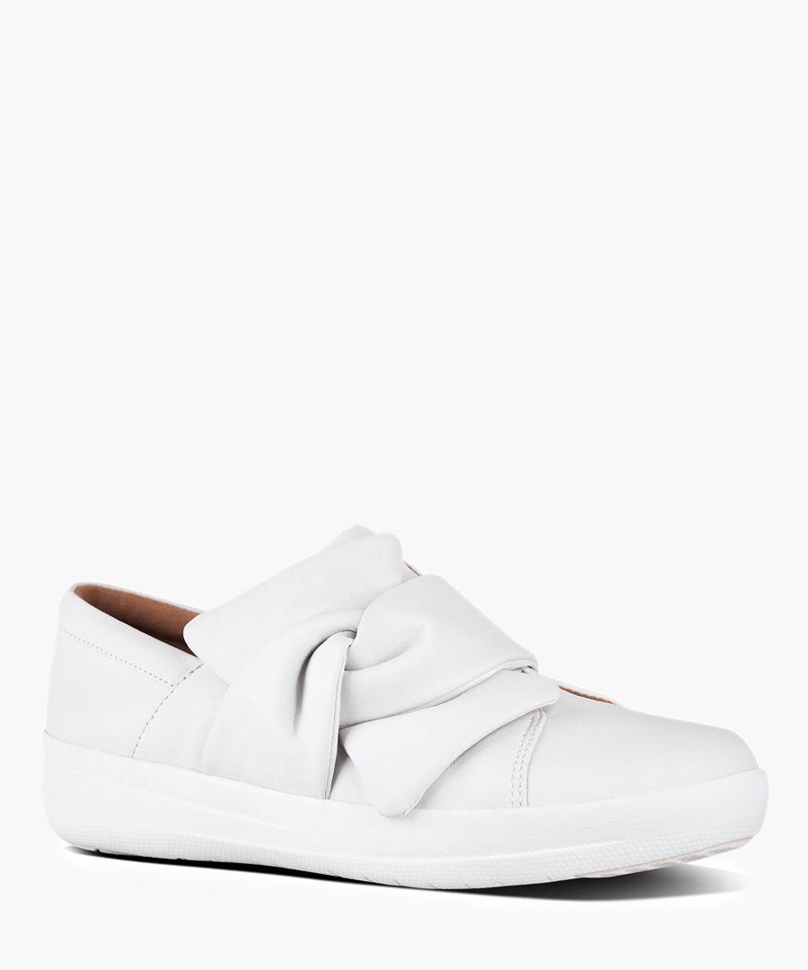 F-Sporty urban white bow sneakers