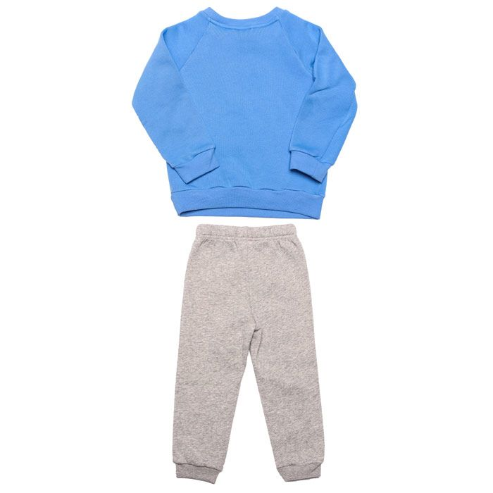 Boy's adidas Baby Linear Fleece Jogger Set in Blue