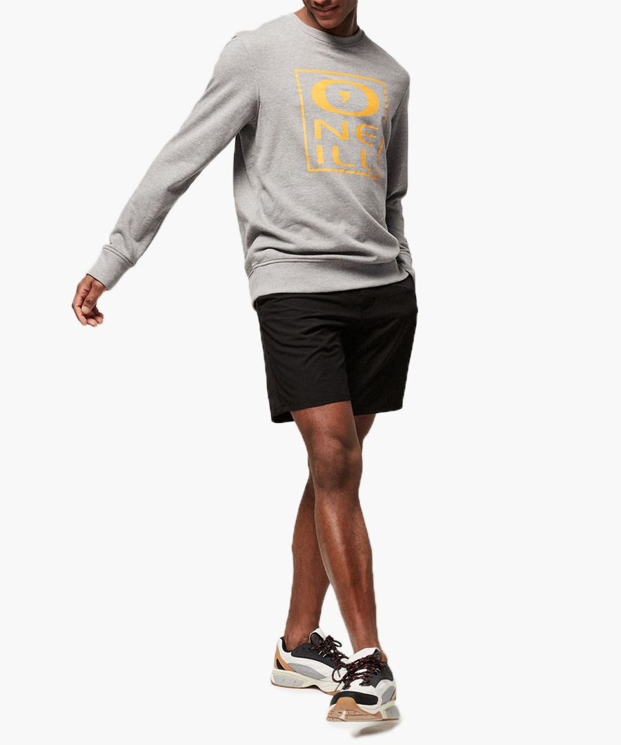 Grey cotton blend crew sweatshirt
