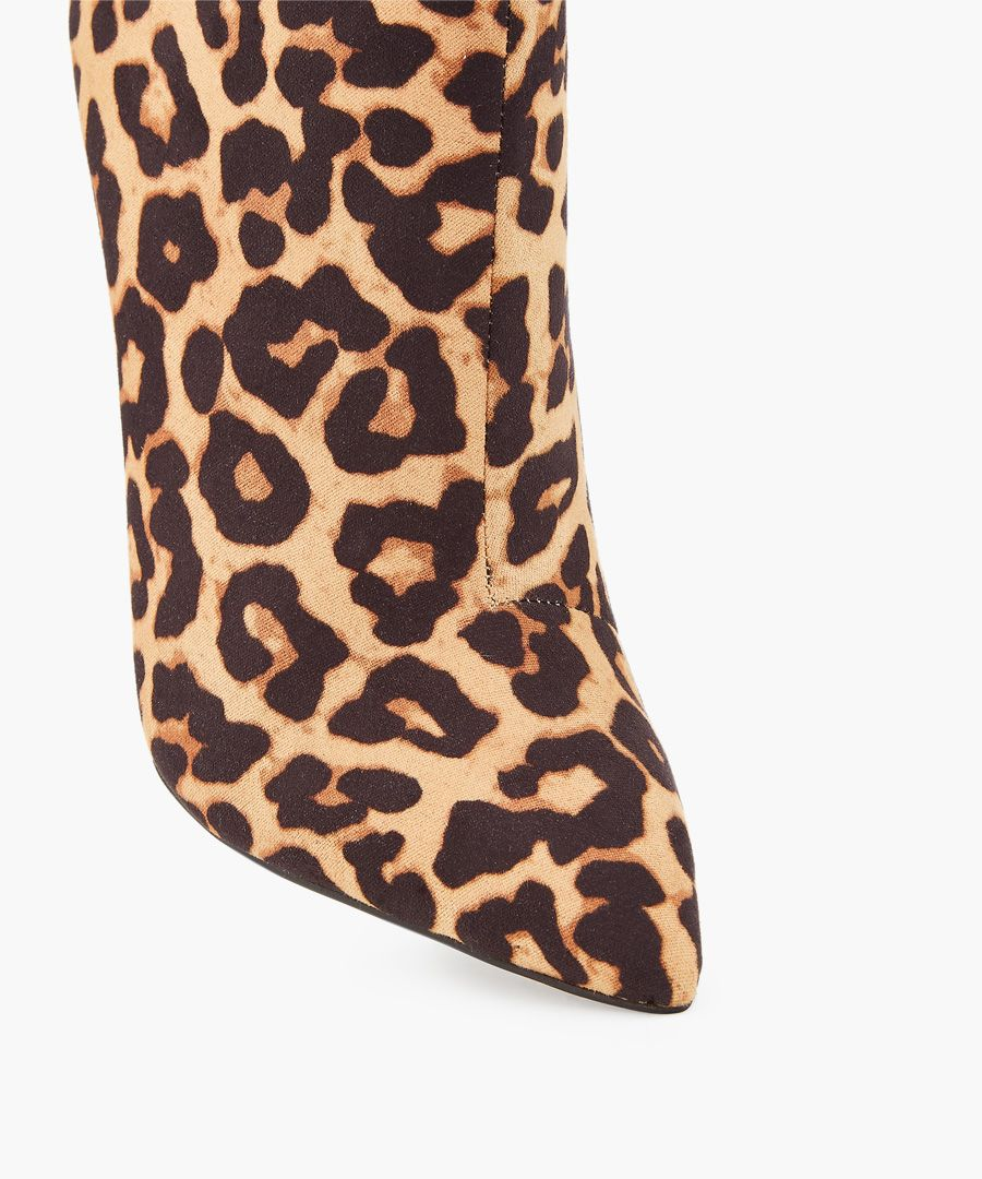 Leopard printed boots