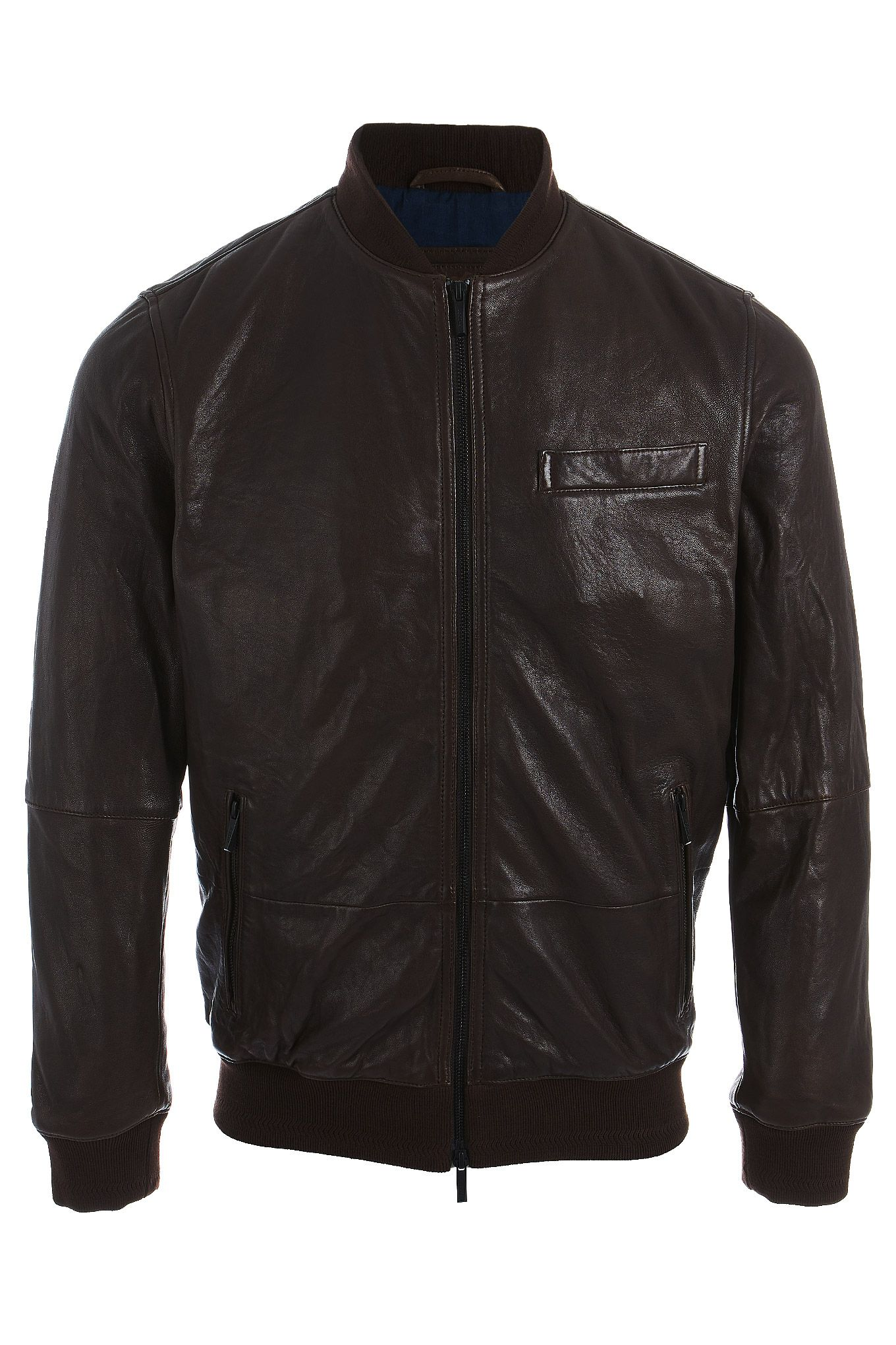 Men s Genuine Leather Casual Jacket