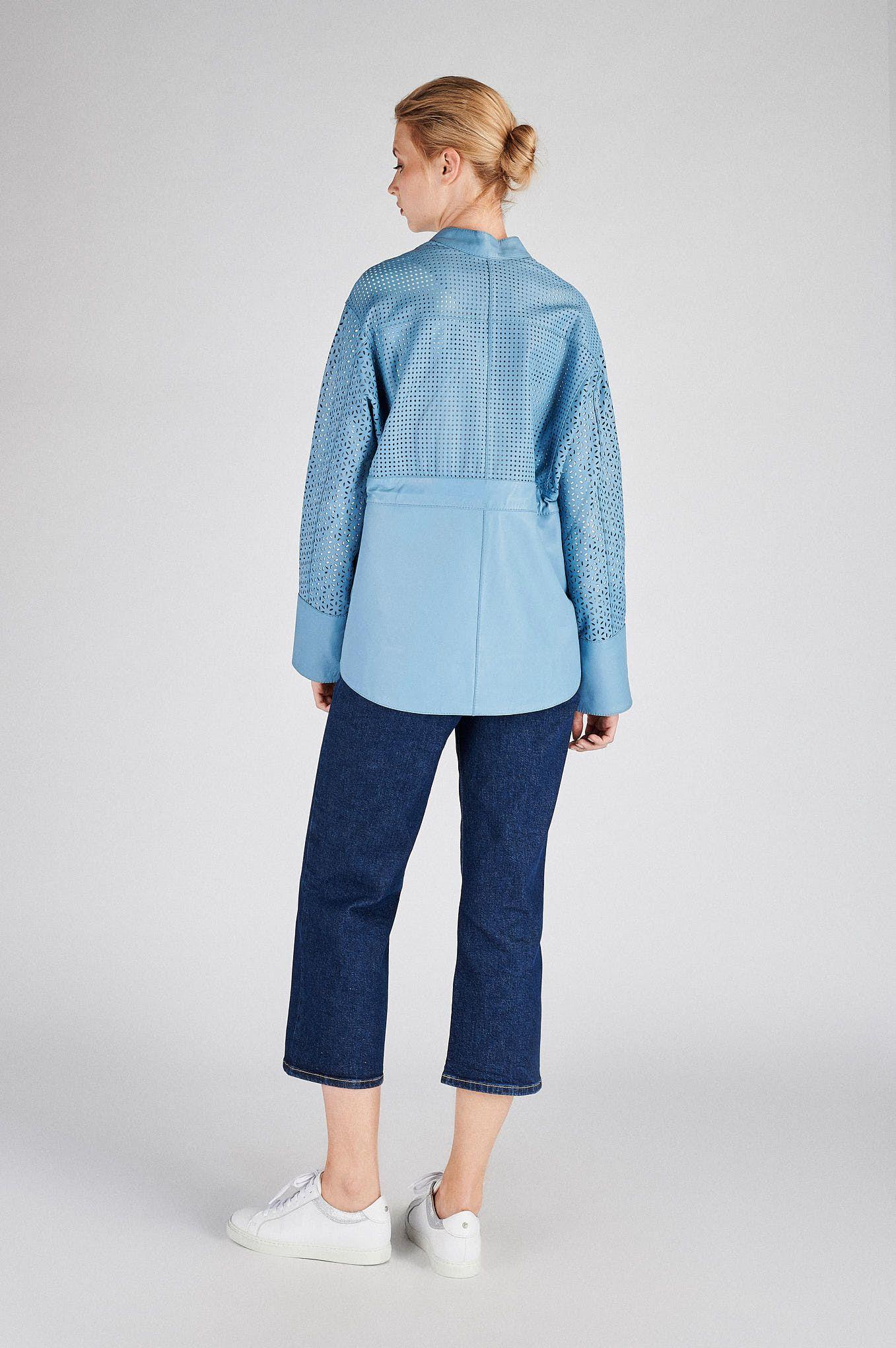 Women s Genuine Leather Casual Sport Jacket