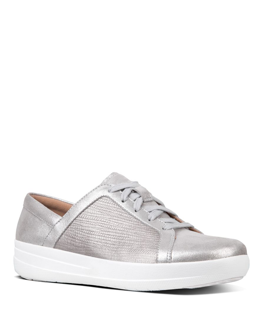 F-Sporty metallic leather trainers