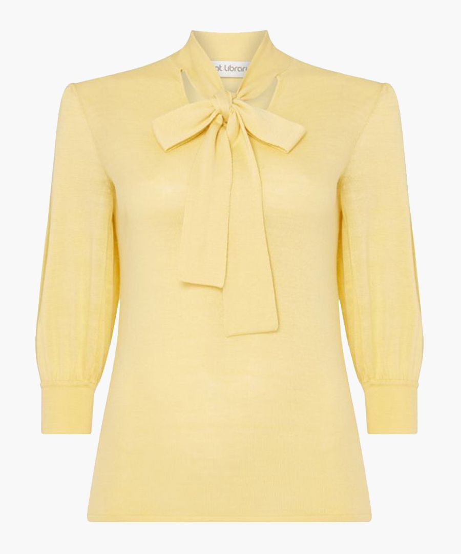 Hermione primrose bow neck knit top