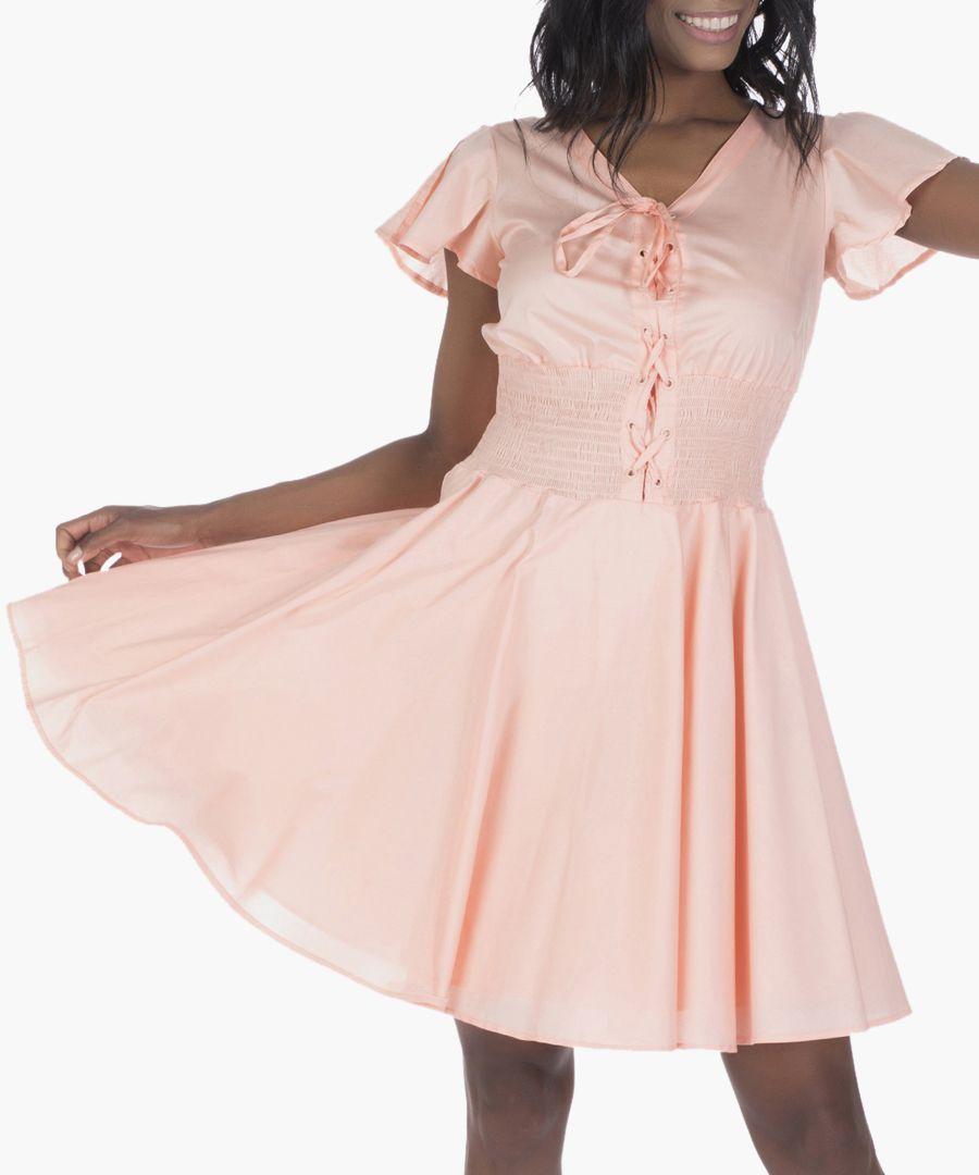 Salmon cotton dress