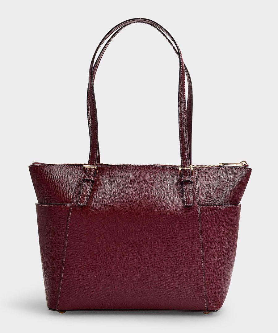 Jet Set burgundy leather shoulder bag