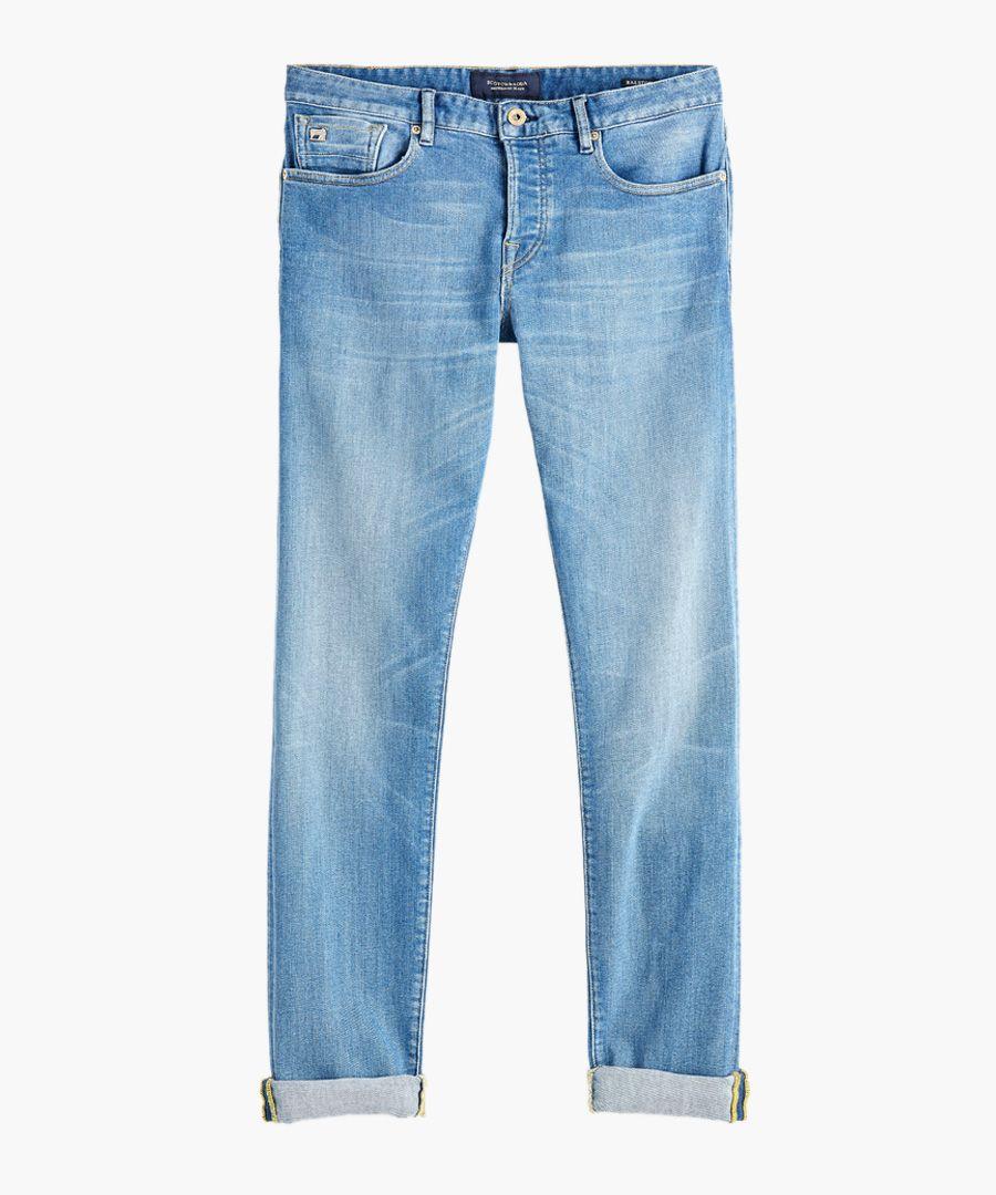 Lucky blauw light blue cotton jeans