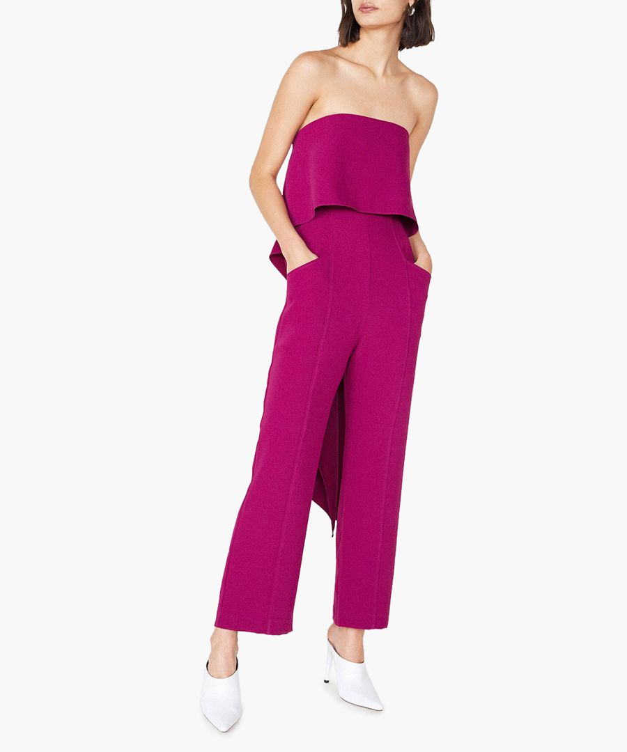 Woburn orchid pink strapless jumpsuit