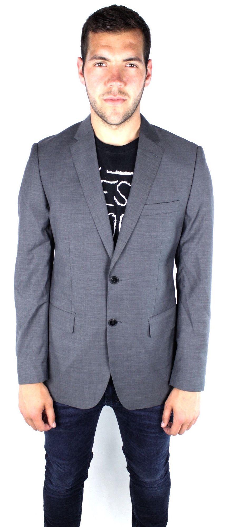 French Connection 5599J City Sharkskin Grey Jacket
