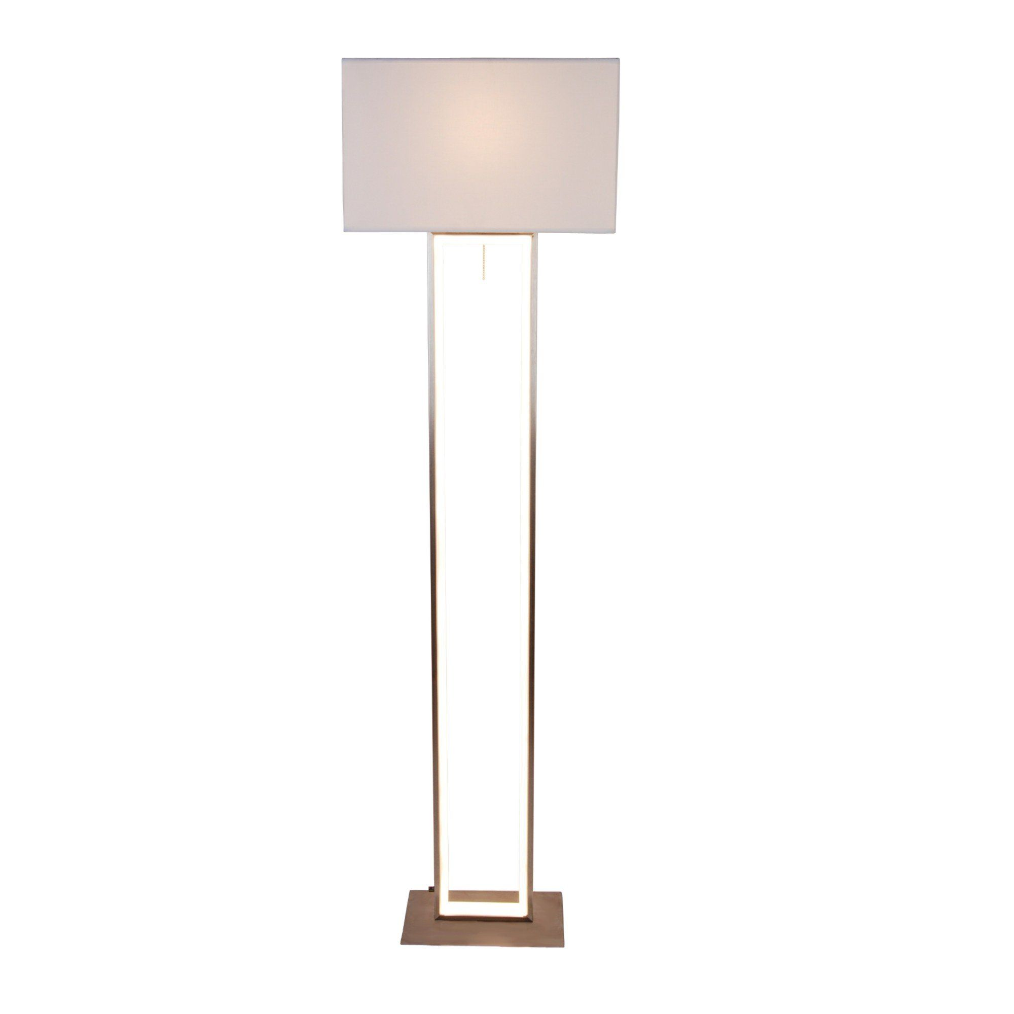 Ulari Warm White LED 150cm Satin Nickel Floor Lamp