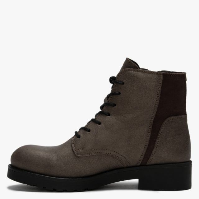 Fly London Buna Leather & Suede Zip Ankle Boots