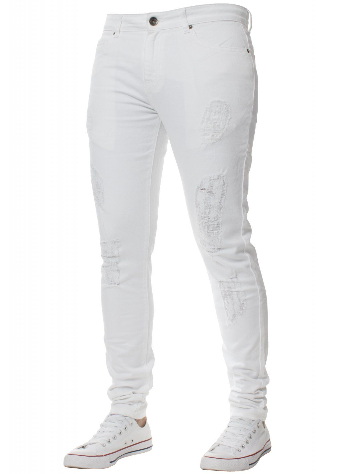 Mens Denim Ripped Denim Jeans  | Enzo Designer Menswear