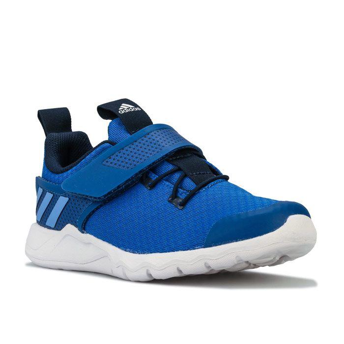 Boy's adidas Junior RapidaFlex Trainers in Blue