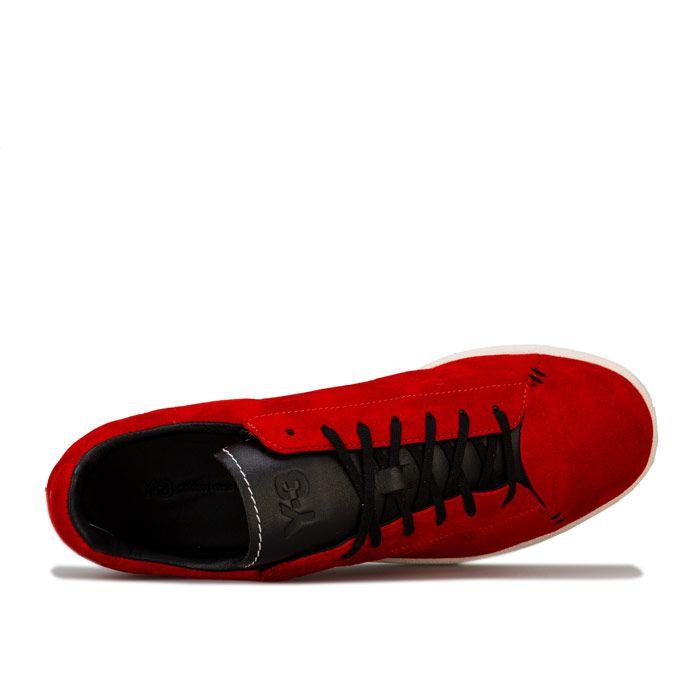 Men's Y-3 Yohji Court Trainers in red black
