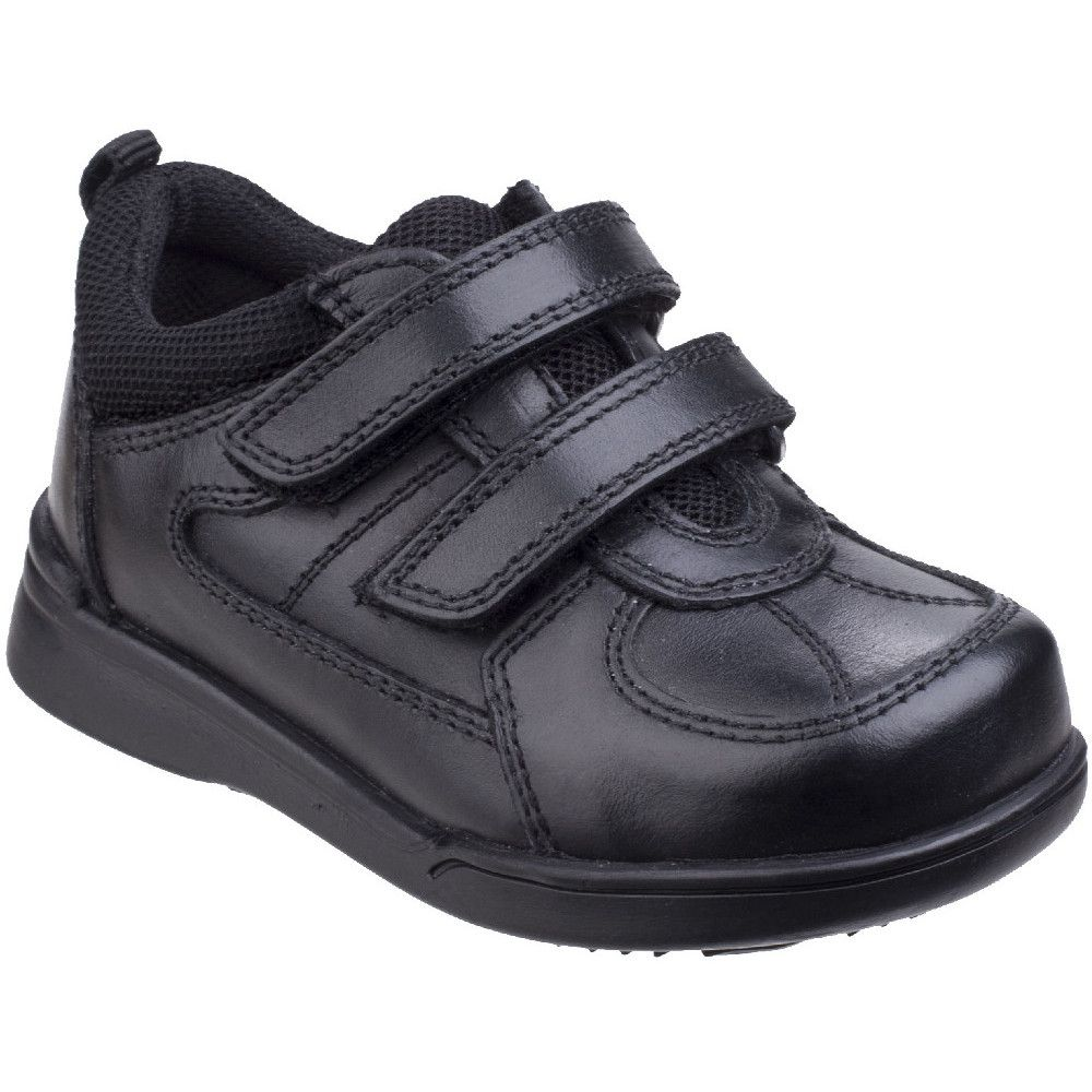 Hush Puppies Boys Liam Durable Back To School Leather Smart Shoes