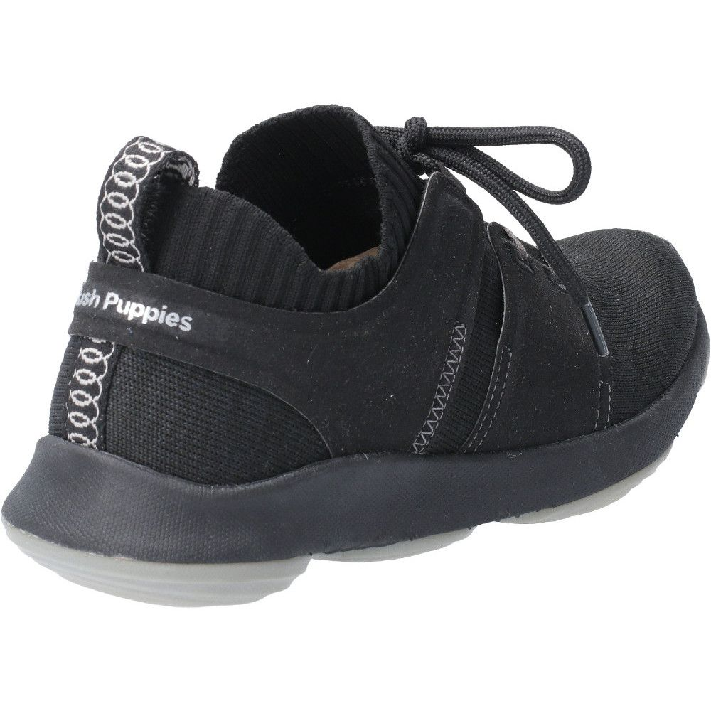 Hush Puppies Womens World Lace Up Refaxed Fit Trainers Shoes