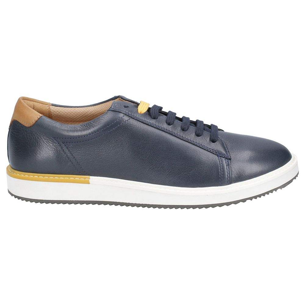 Hush Puppies Mens Heath Bounce Plus Leather Plimsolls Shoes