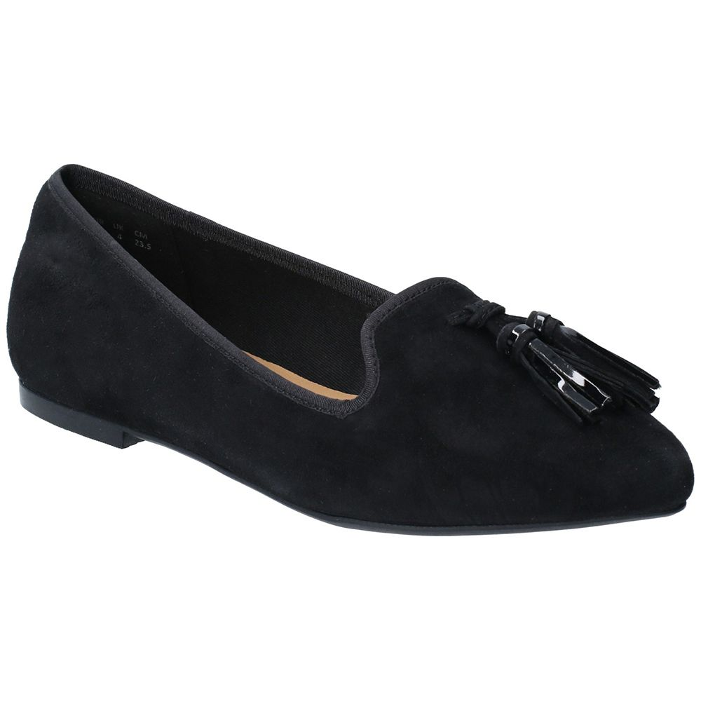 Hush Puppies Womens Sadie Suede Slip On Flat Smart Shoes