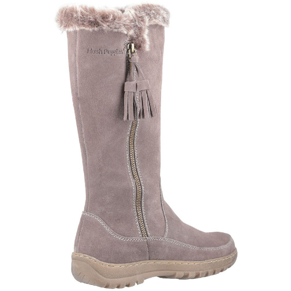 Hush Puppies Womens Mabel Zip Up Warm Cosy Winter Long Boots