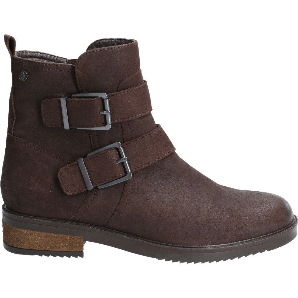 Hush Puppies Womens Bea Nubuck Leather Ankle Biker Boots