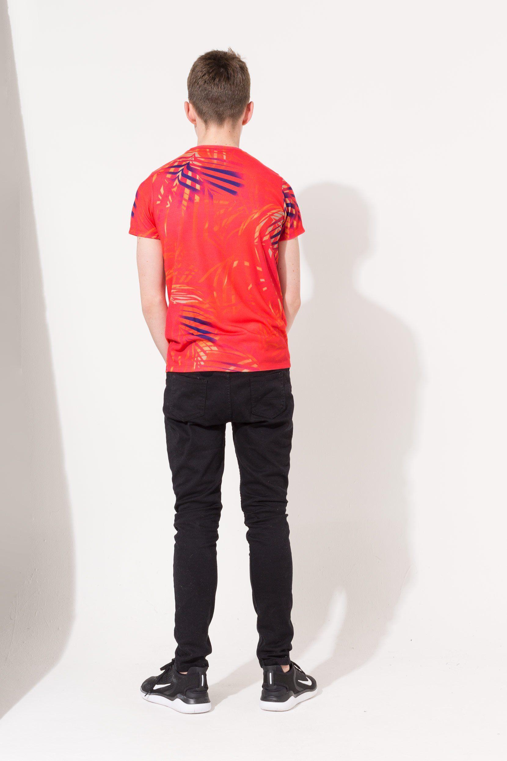 Hype Red Palm Crest Kids T-Shirt
