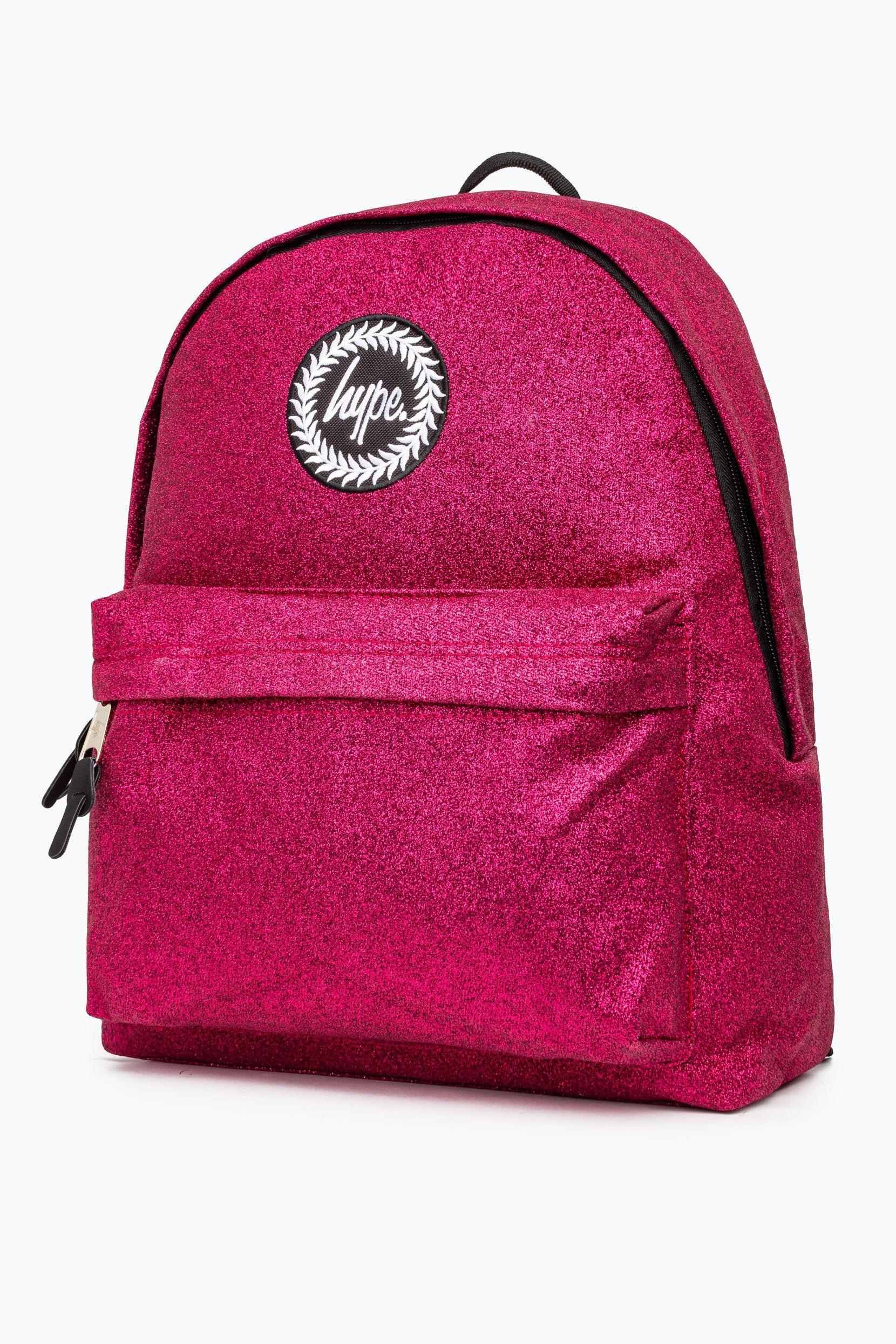 Hype Pink Glitter Backpack