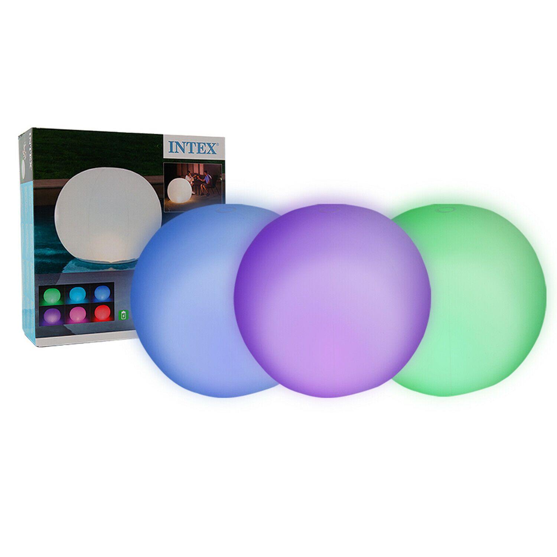 Intex 68695 Waterproof Floating Sphere LED Pool Garden Light