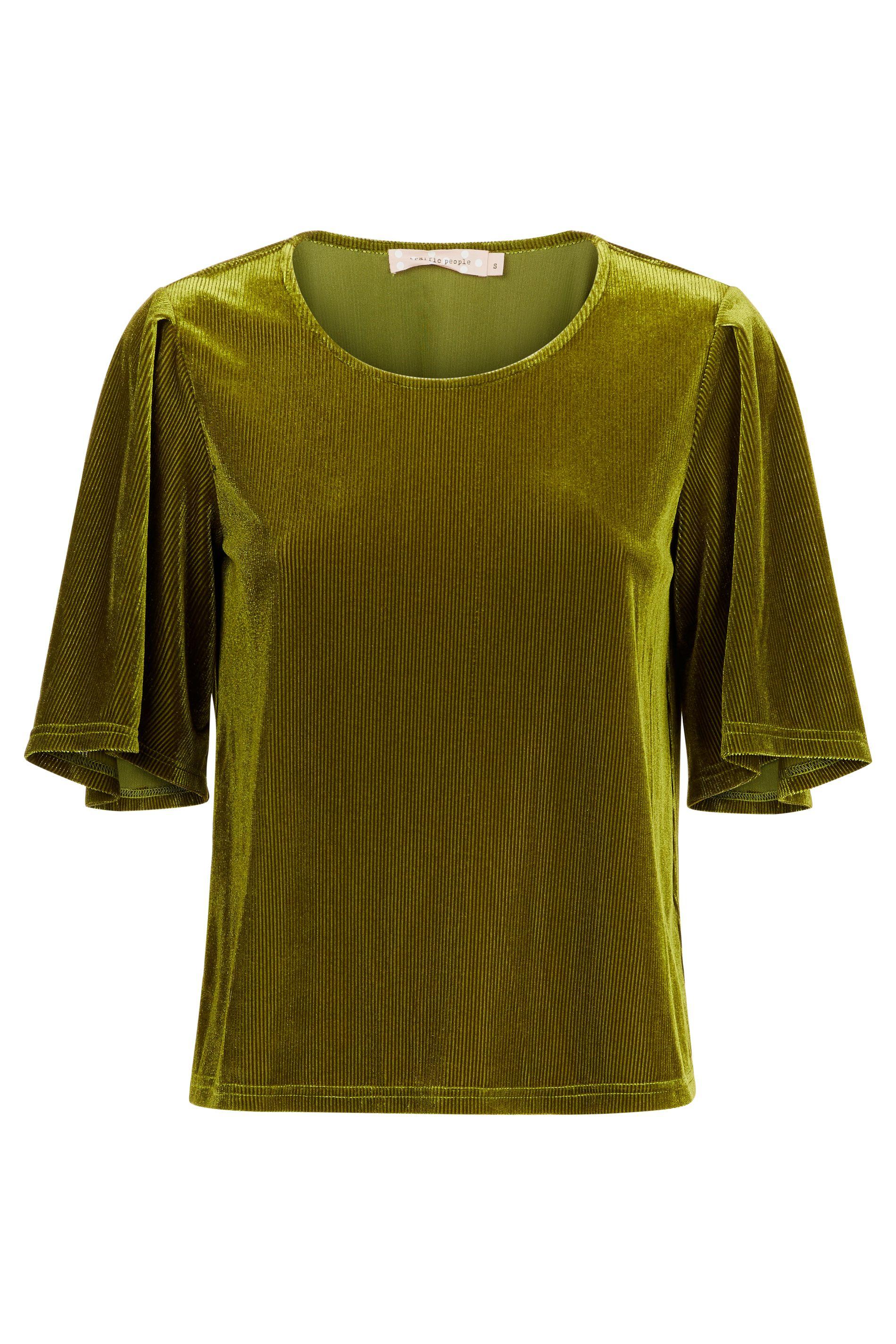 Whisper Velvet Top in Green