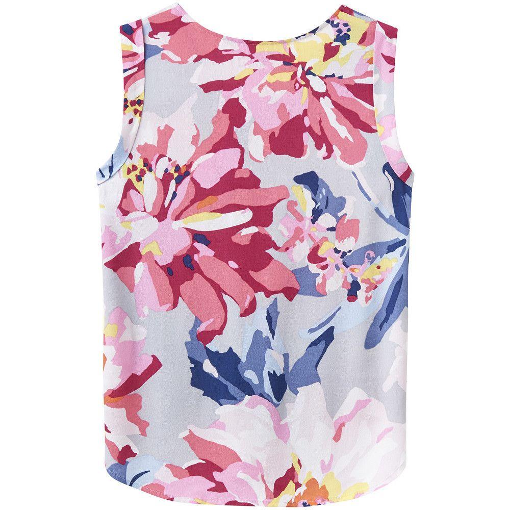 Joules Womens/Ladies Alyse Printed Sleeveless Flattering T Shirt Top
