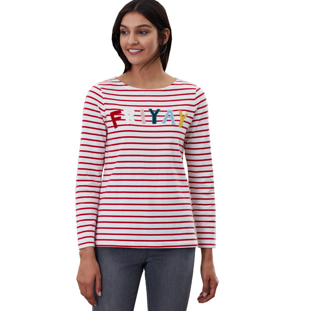 Joules Womens Harbour Luxe Relaxed Fit Long Sleeve Top