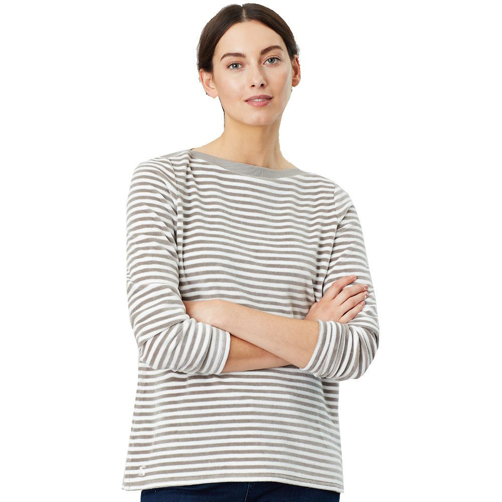 Joules Womens Esme Slash Neck Long Sleeve Harbour Top