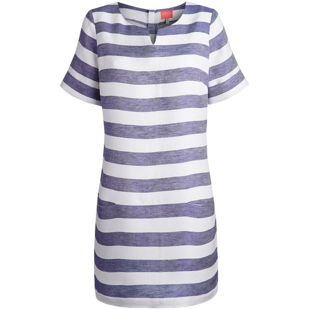 Joules Ladies Abington Short Sleeve Summer Tunic Blue