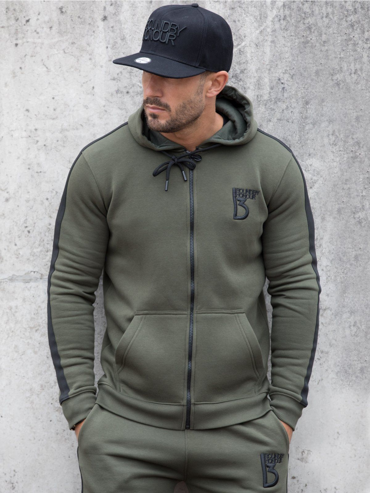 Scale zipped tracksuit hoodie