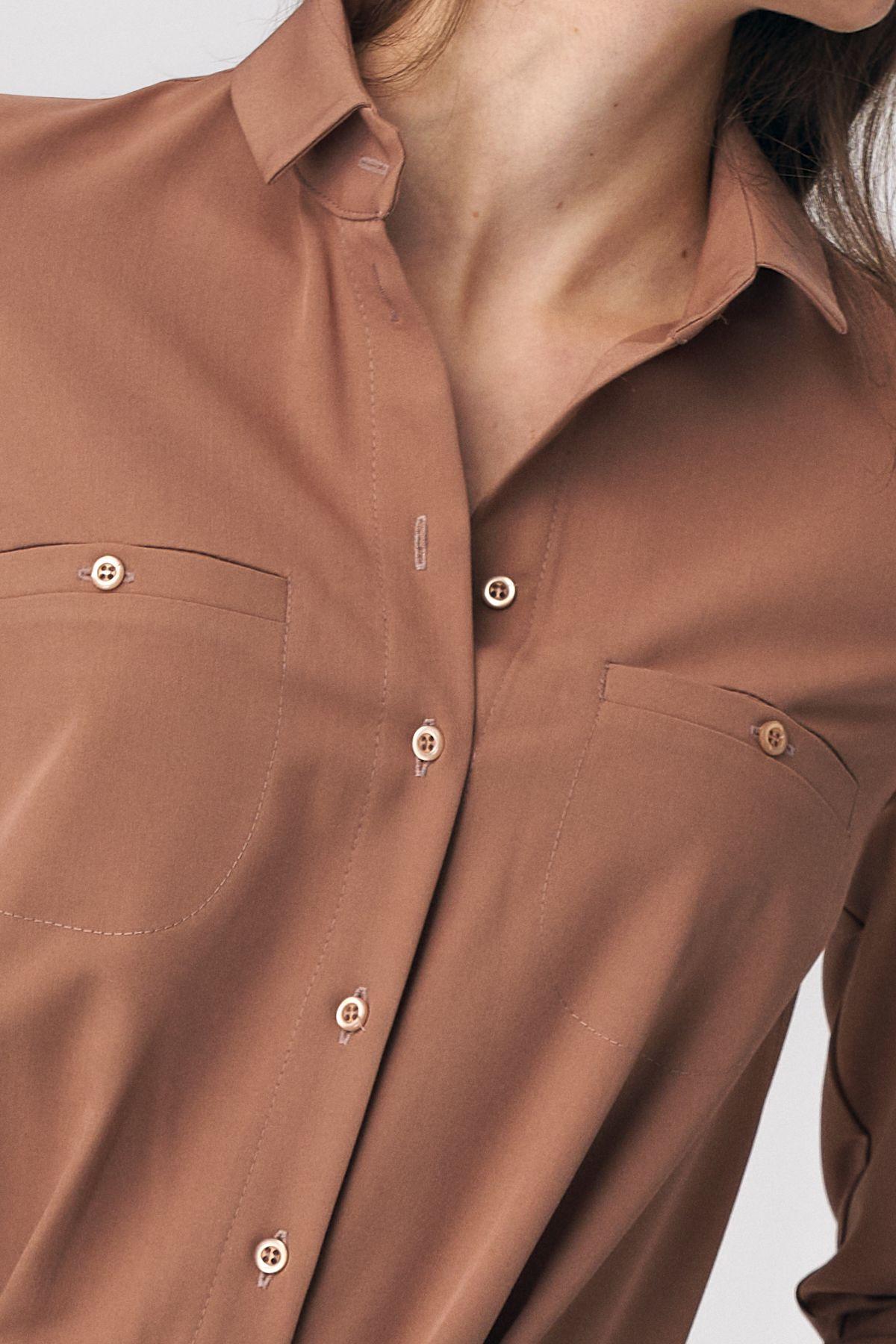 Caramel jumpsuit with tie