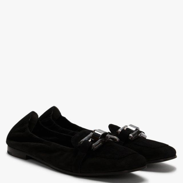 Kennel & Schmenger Nina Suede & Perspex Trim Loafers