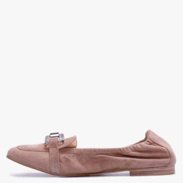 Kennel & Schmenger Nina Suede & Perspex Trim Loafers