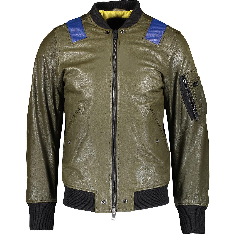 Diesel L-Kittie Green Leather Jacket