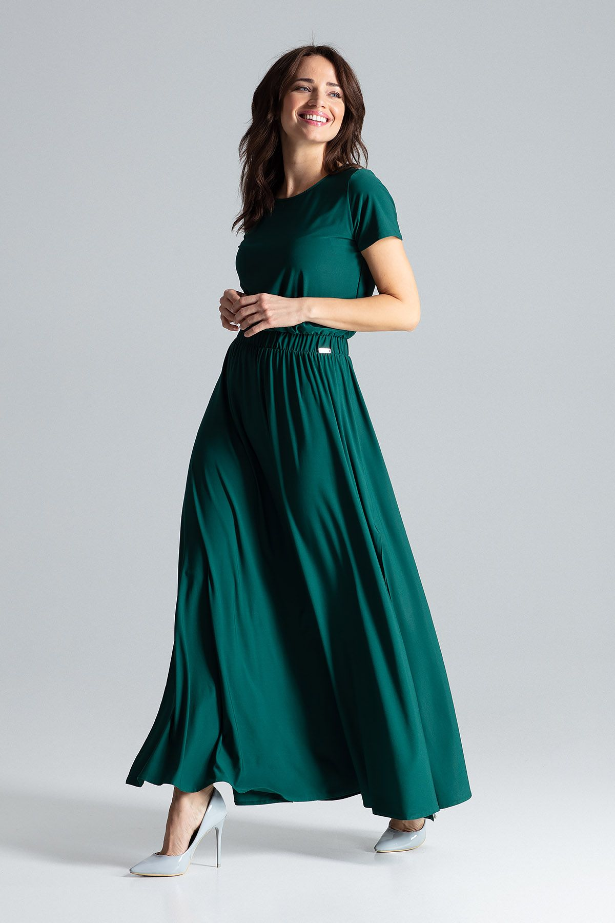 Maxi Dress With Short Sleeves