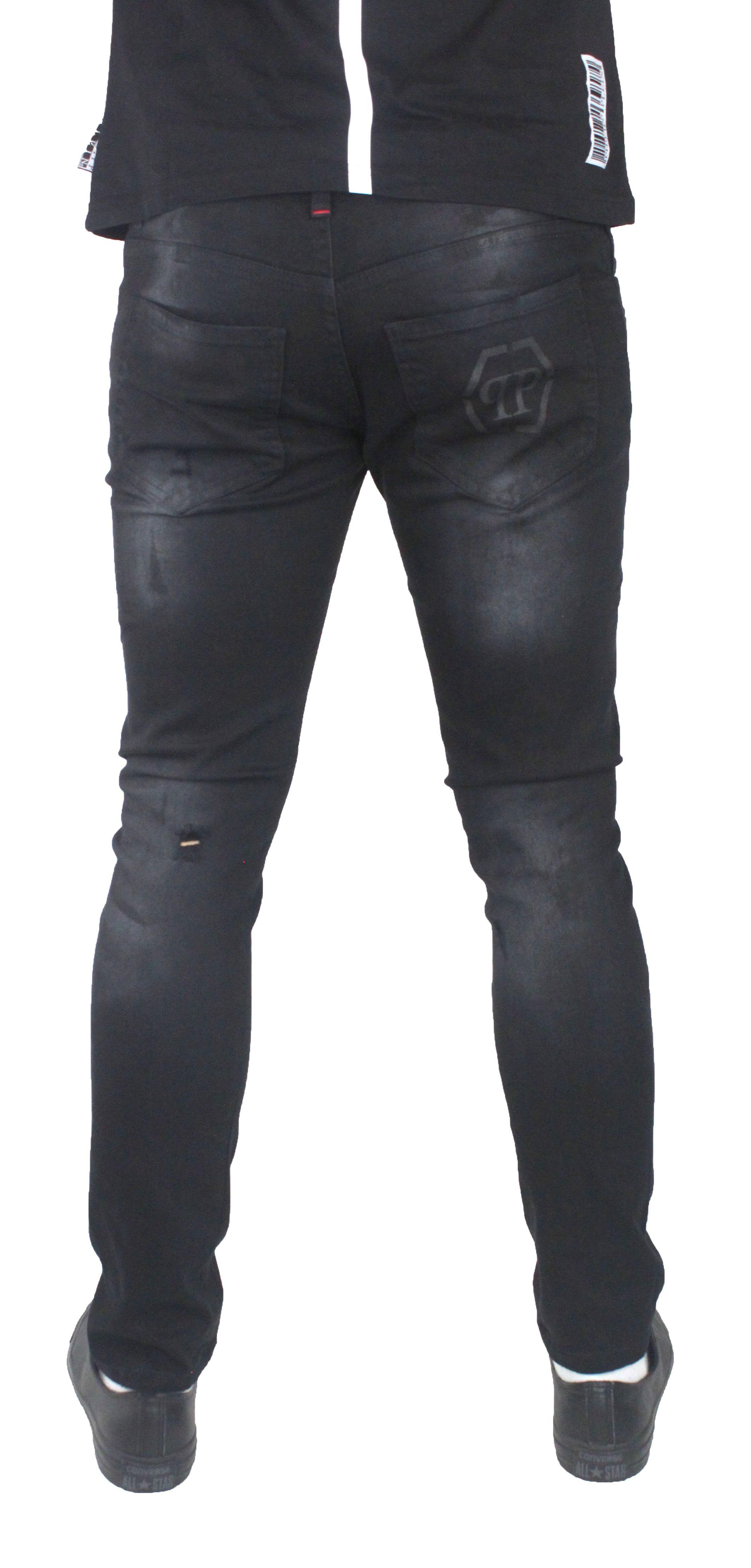 Philipp Plein MDT0415 Jorogumu 02ON Black Oni Jeans