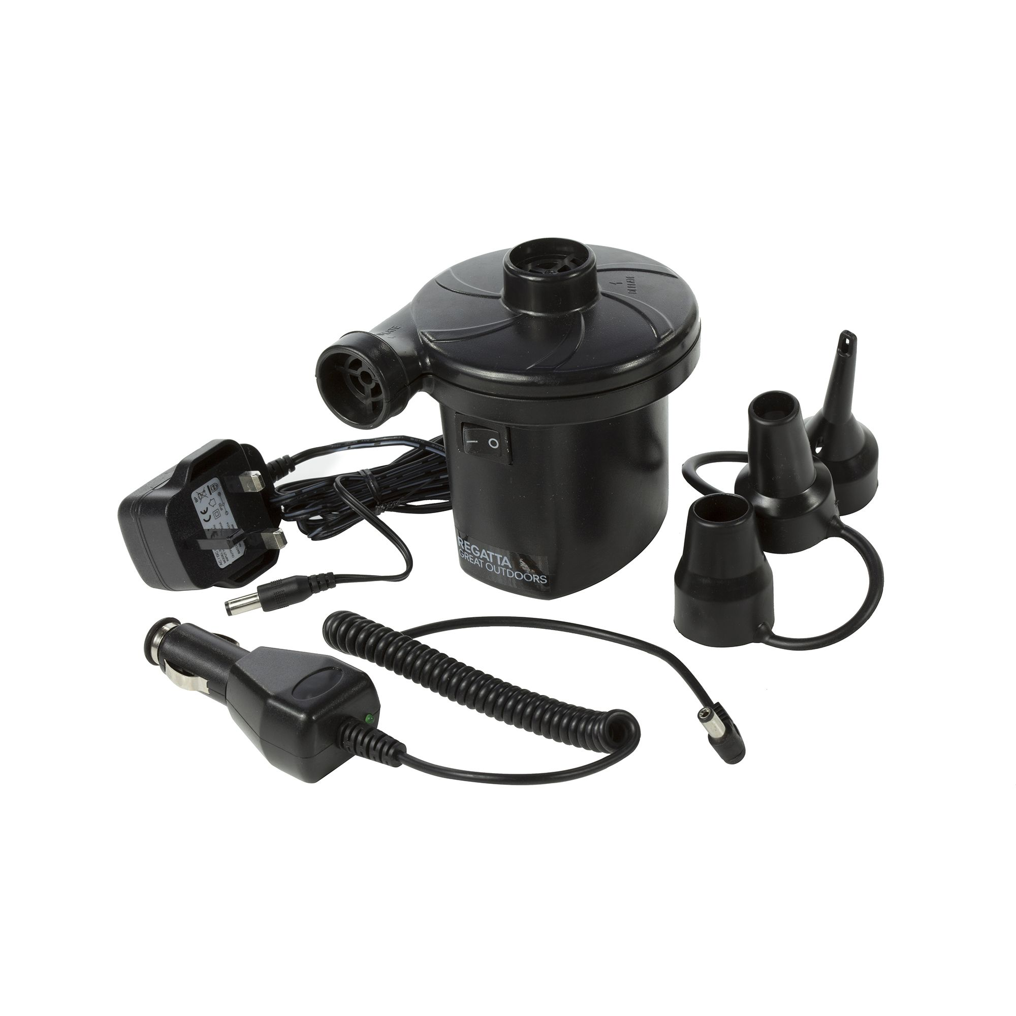 Regatta Great Outdoors Rechargeable Electric Camping Pump (UK Plug)