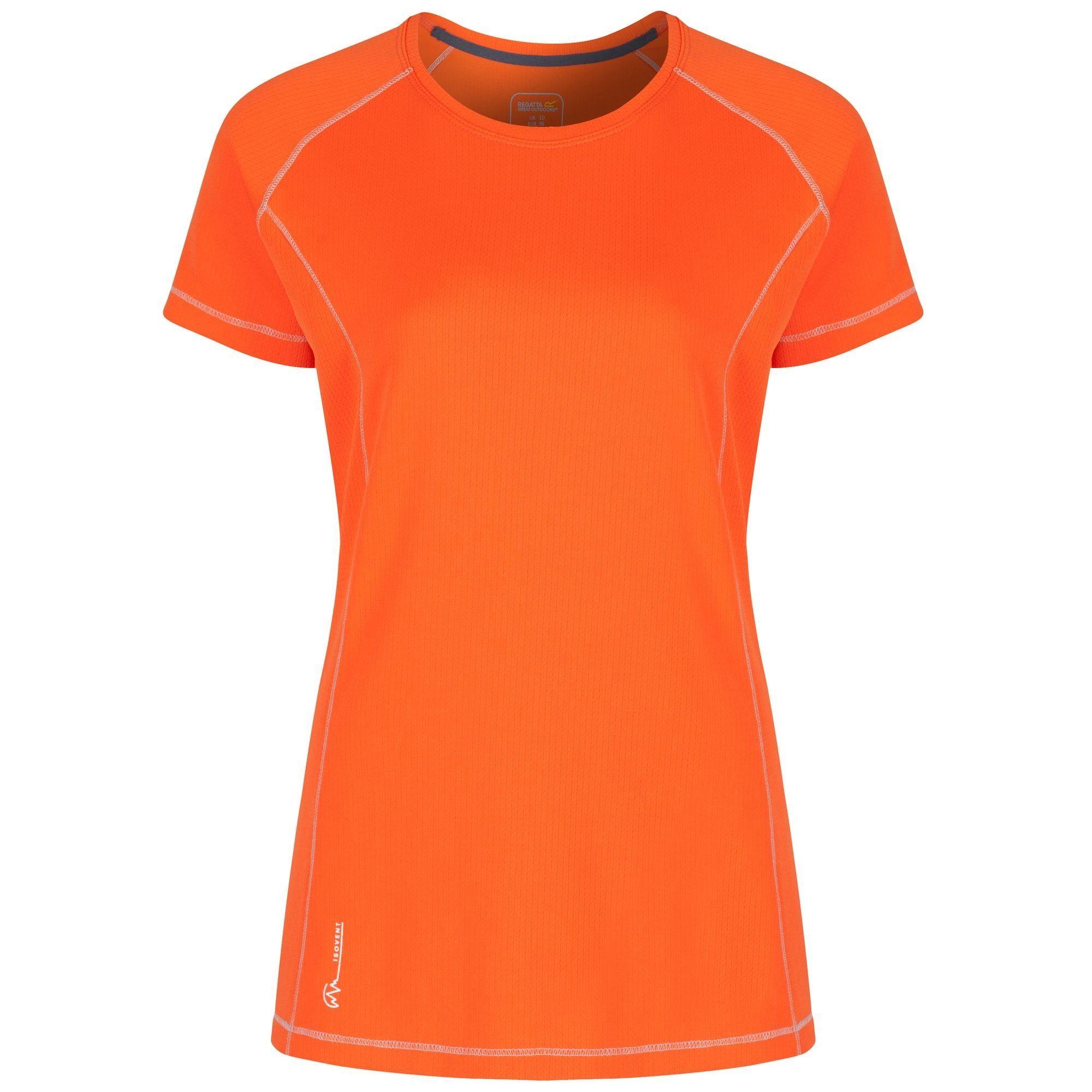 Regatta Great Outdoors Womens/Ladies Virda Short Sleeve Base Layer T-Shirt