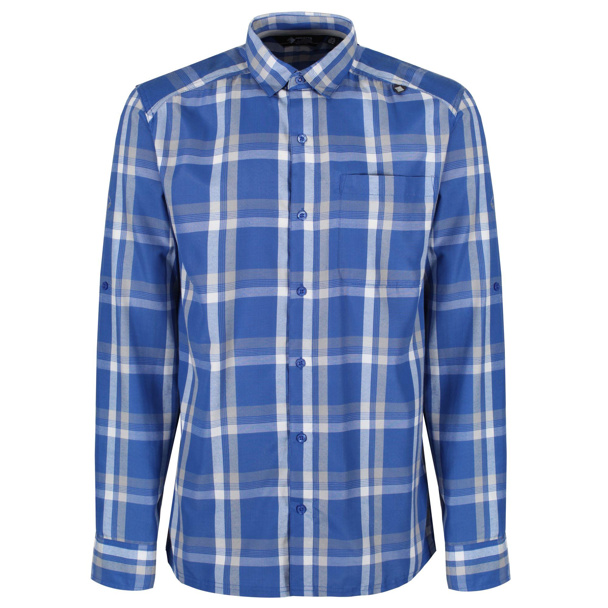 Regatta Mens Mindano Checked Long Sleeve Shirt
