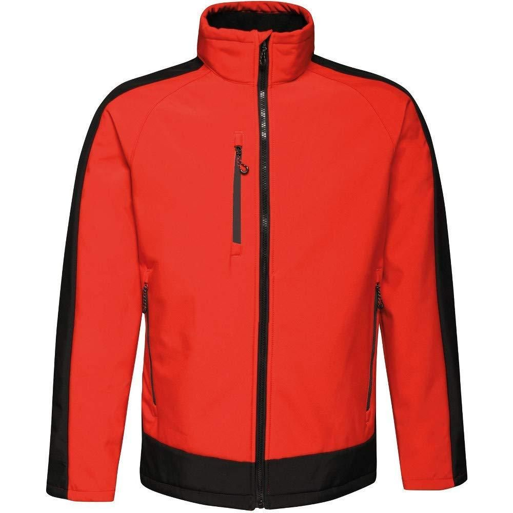 Regatta Mens Contrast 3 Layer Softshell Full Zip Jacket