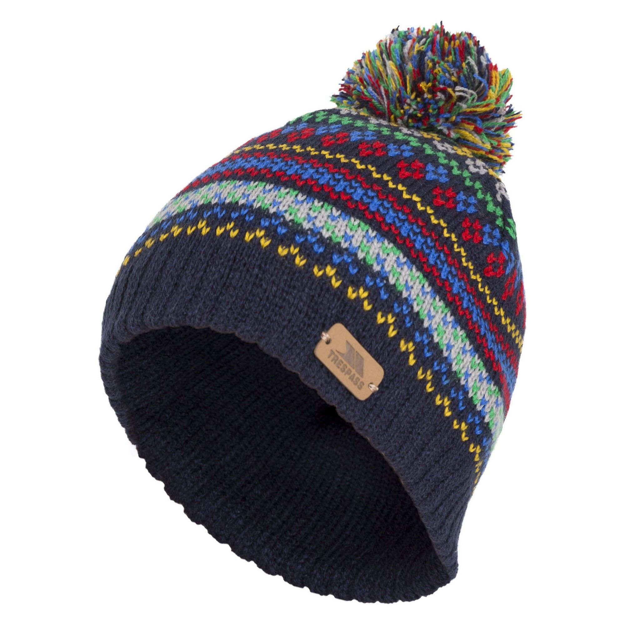 Trespass Childrens/Kids Garrity Knitted Pom Pom Hat