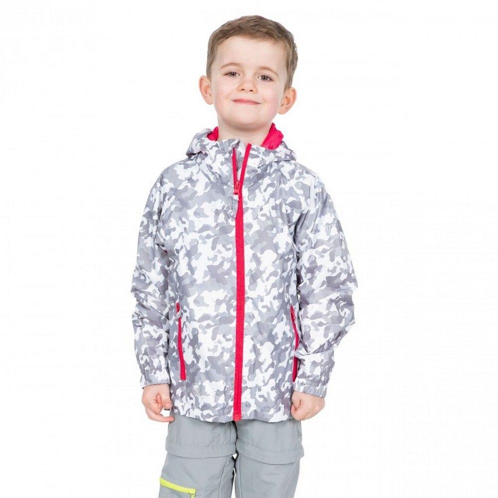Trespass Childrens/Kids Qikpac Waterproof Packaway Printed Jacket