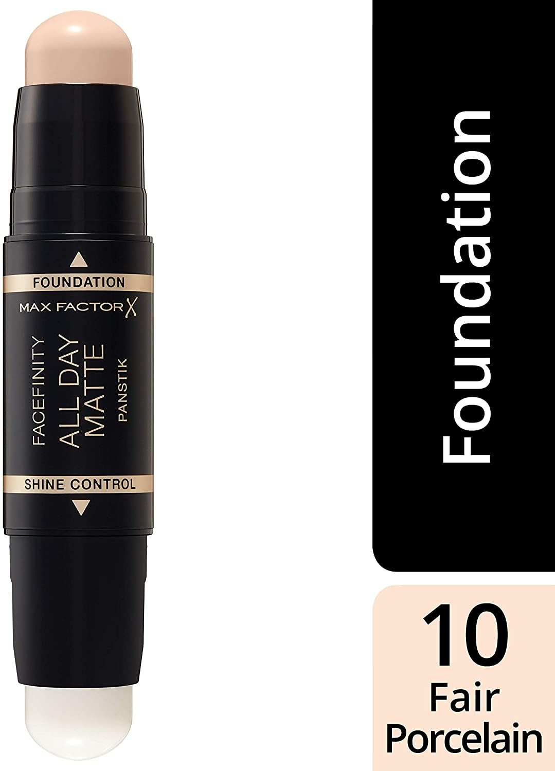 3x Max Factor Facefinity All Day Matte 2in1 PanStik Foundation 10 Fair Porcelain
