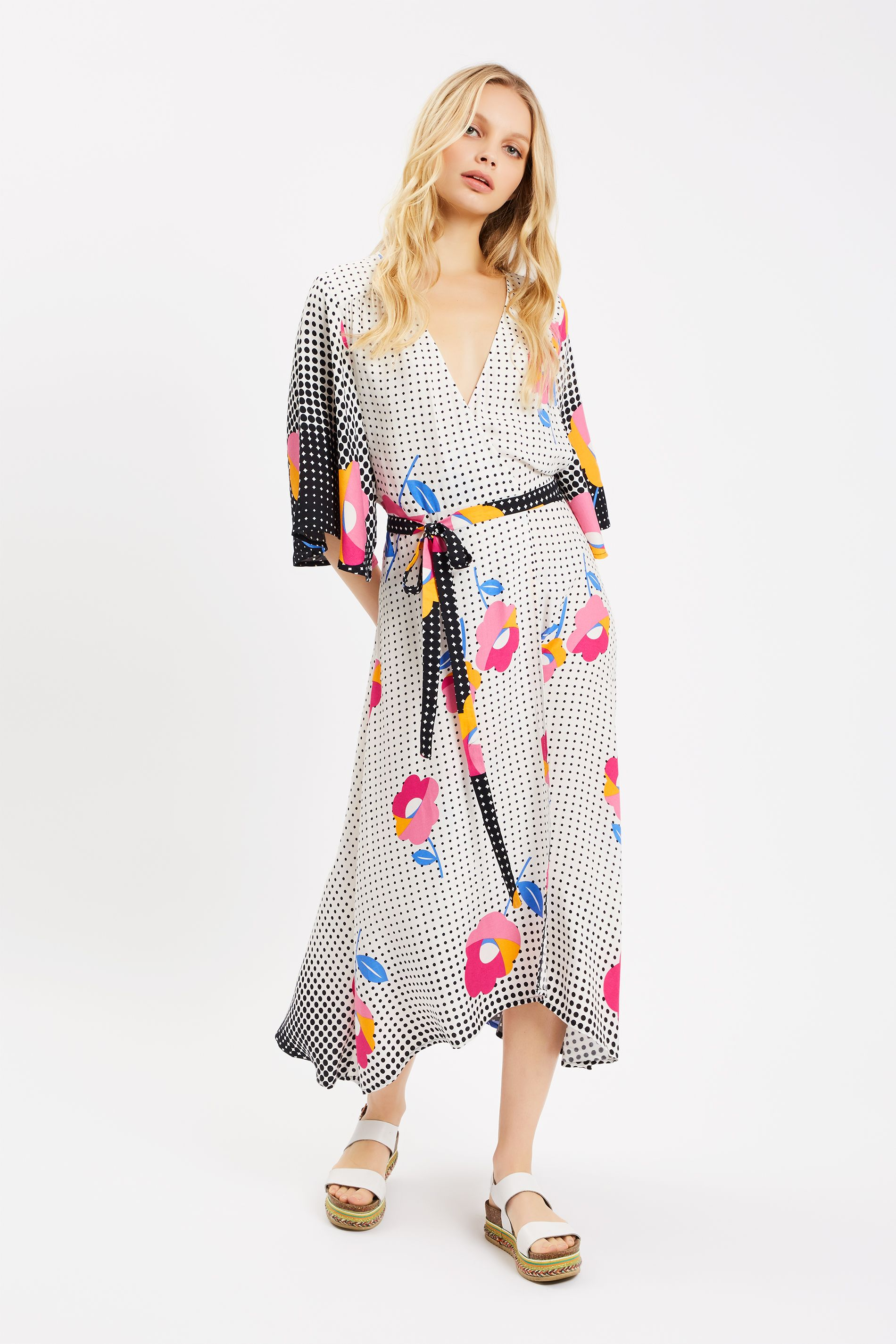 Mary Mary Floral Maxi Wrap Dress in Multi