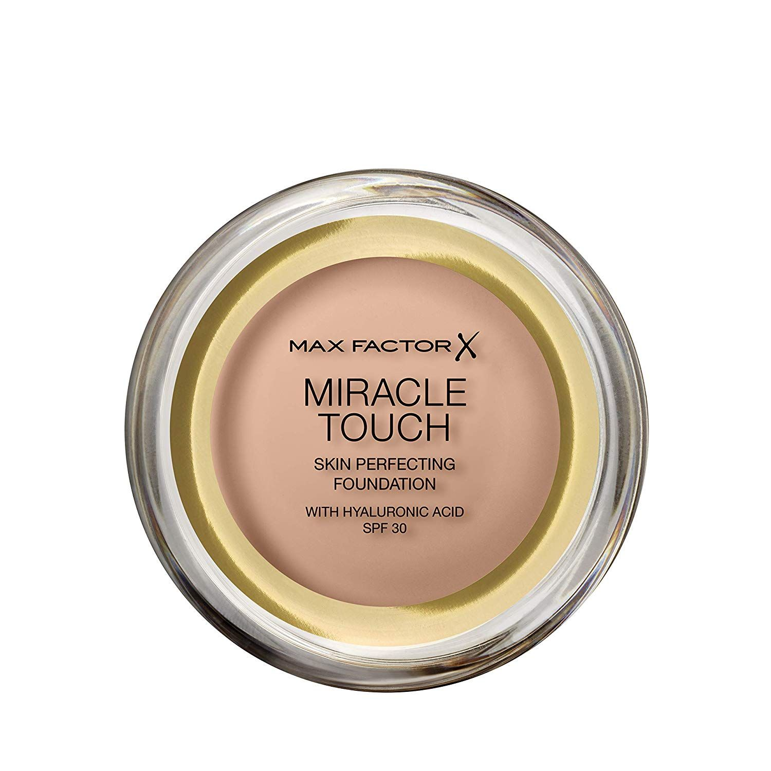3 x Max Factor Miracle Touch Skin Perfecting Foundation SPF30 - 45 Warm Almond