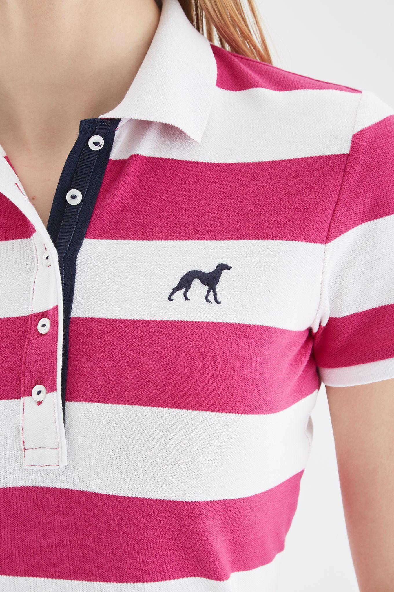 Women s Striped Piquet Polo